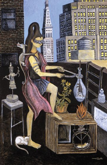 The Experiment by Terry Marks. oil on canvas, 36 x 24 inches. http://www.terrymarks.net