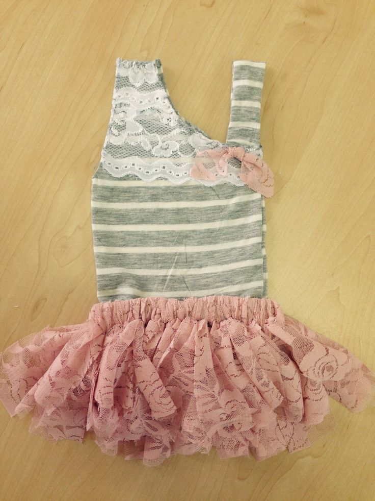 Pin strip tank with tutu skirt