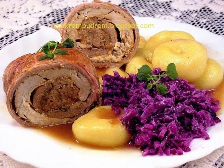 rolady z trzech mięs - kulinaria rolady,mięso mielone,mięso drobiowe,mięso wieprzowe - kobiece inspiracje