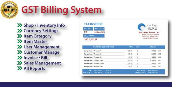 Gst Billing System With Full Project Source Code Stylelib Code In 2021 Source Code Billing Software Coding