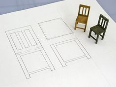 chairs - making things in scale.