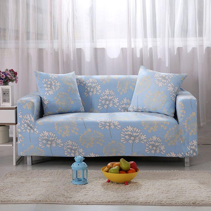 Sofa Pillows makeover furniture Sofa Covers Elastic Spandex Star Flowers Printed Light Blue Sofa Covers Polyester Protector Pattern Sofa Covers V AliExpress