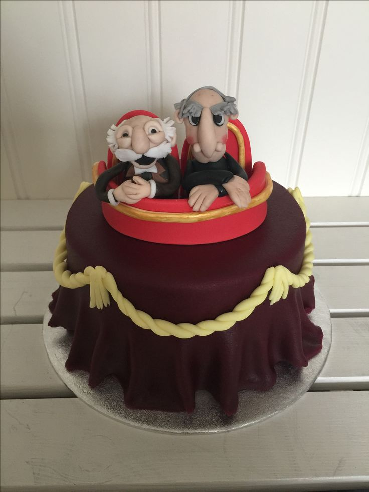 Statler and Waldorf cake the muppets show