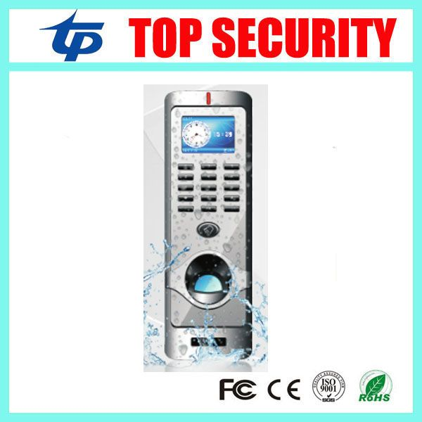 IP64 waterproof fingerprint access control system TCP/IP color screen biometric door access controller with RFID card reader