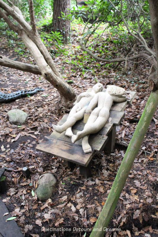 The Striking Serenity of the Sculpture Park in Churt: A woodland garden of eclectic sculptures in the rolling Surrey Hills