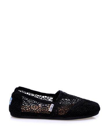 Toms Siyah Dantelli Espadril  #espadril #kanvasayakkabı #toms #fashion #moda #yazlıkayakkabı #bezayakkabı #shoes #canvasshoes #fashion #trend #style #look #moda #2016modası