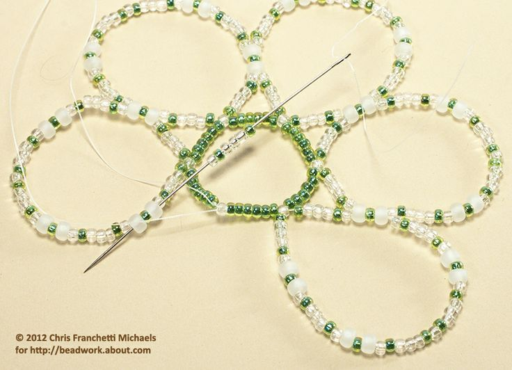 Easy Beaded Ornament Cover Pattern | Beaded Oranments | Pinterest