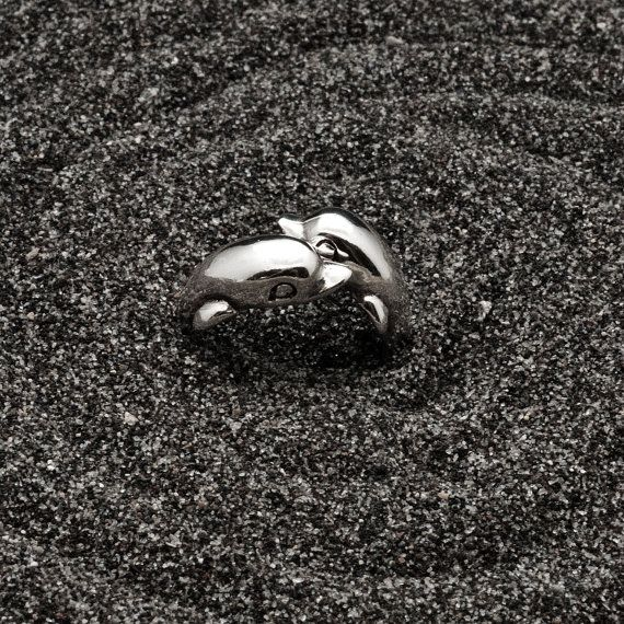Fish Ring Sterling Silver Double Fish Twist Ring by AllAboutSeas