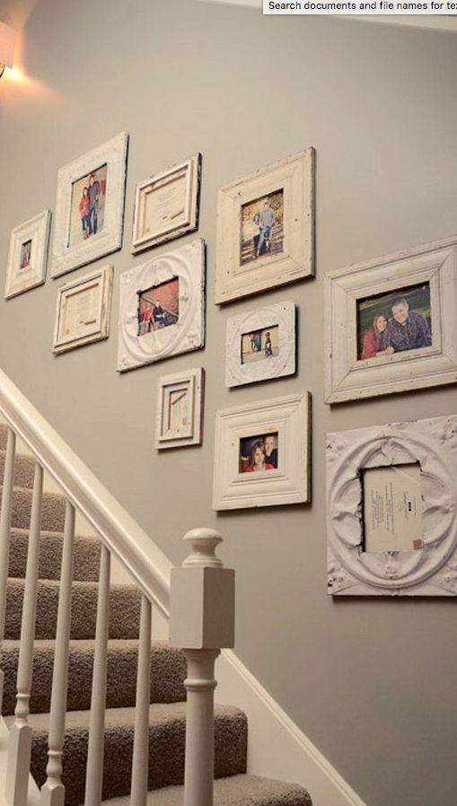 You can make your gallery wall unique and different buy housing your family memories in one