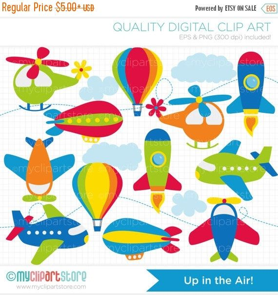 ON SALE - Aviation / Airplanes Clip Art / Digital Clipart - Instant Download