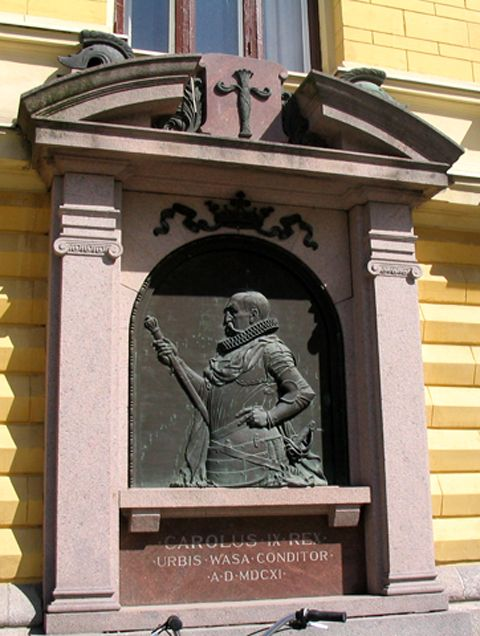 Kaarle IX the founder of the City Vaasa.