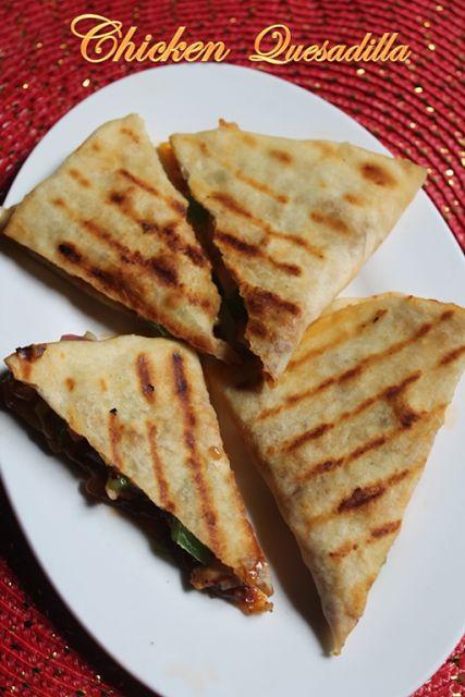 Chicken Quesadilla Recipe - Chicken & Cheese Quesadilla Recipe - Yummy Tummy