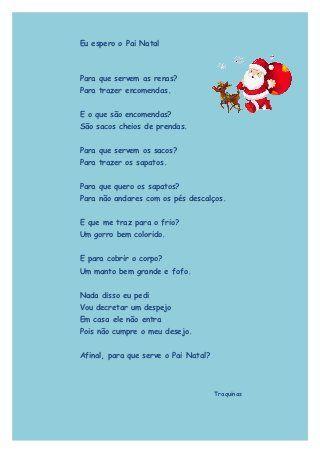 Lengalenga de Natal -  Eu Espero o Pai Natal