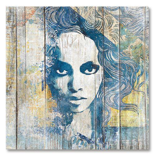 Tableau décoratif portrait femme rebelle sreet art