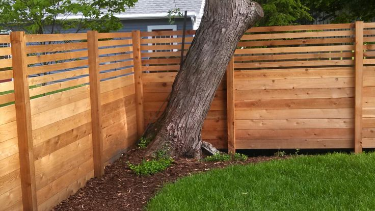 Horizontal Wood Fence Diy Custom Cedar Wood Fence Privacy Fence Grand Haven 9 19 On Home Design