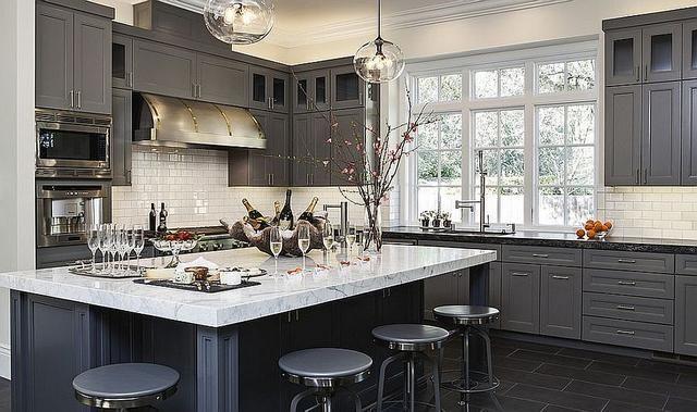 48+ Dark grey backsplash with white cabinets inspirations