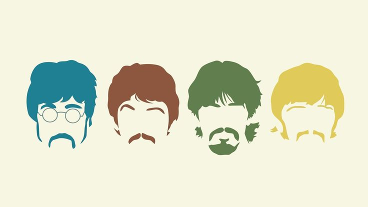 Download Wallpaper 3840x2160 The beatles, Silhouette, Haircut, Mustache, Members 4K Ultra HD HD Background