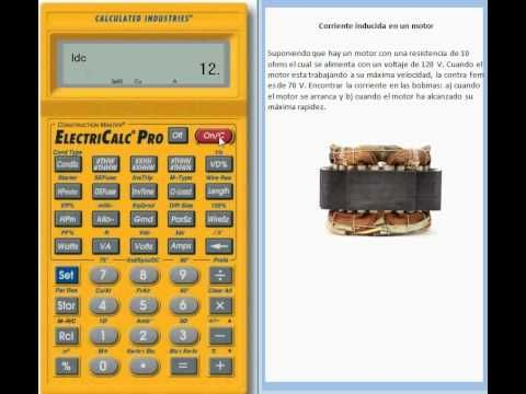 Tutorial sobre Calcular la Corriente Electrica Inducida con la Electric Calc Pro