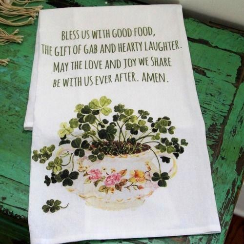 Irish Kitchen Blessing Flour Sack DishTowel