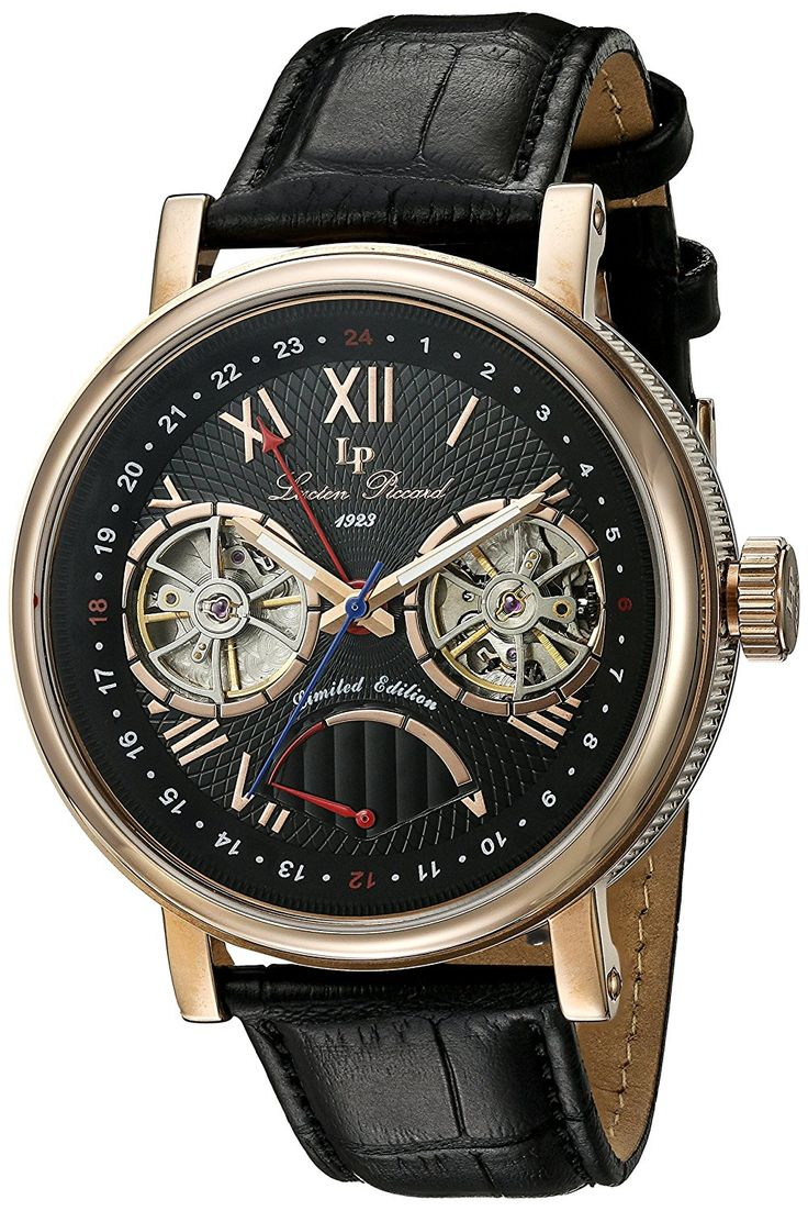 Lucien Piccard Watches Matador Leather Band Watch * You can get more details by clicking on the image.