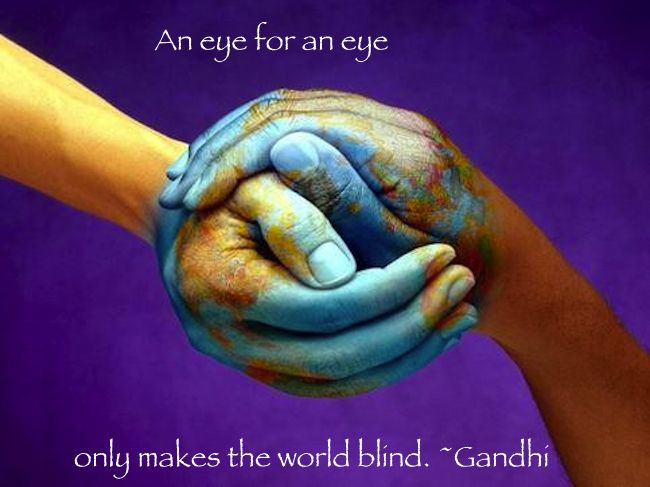 unite the world gandhi