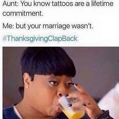 Thanksgiving Clap Back