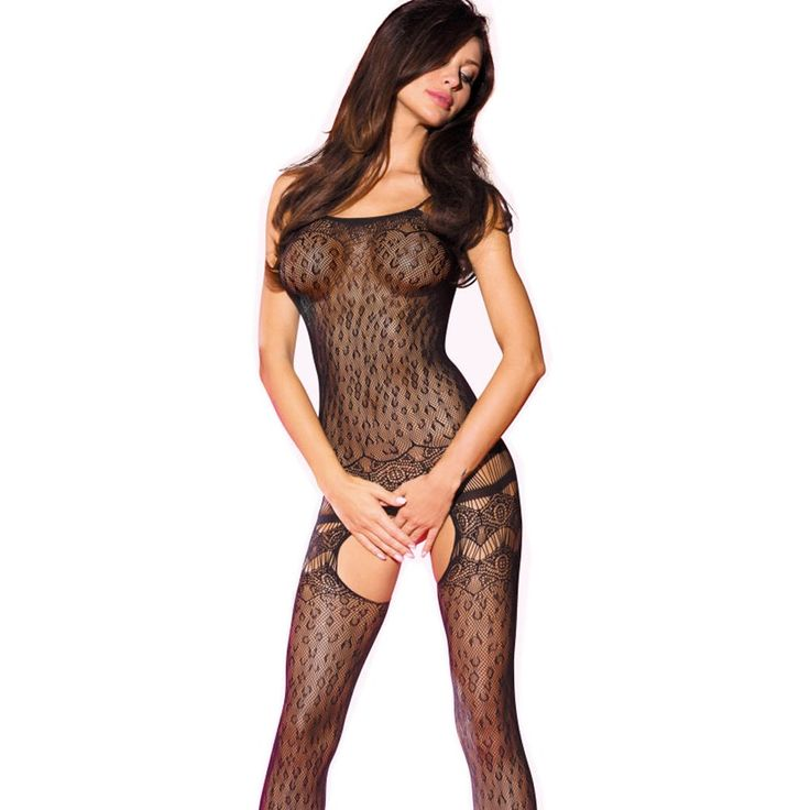Beauty's Love Women's Open Crotch Halter Leopard Fishnet Seamless Bodystocking