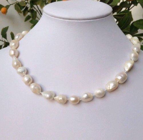 100/% Naturel 9-10 mm White Freshwater Cultured Pearl Necklace 48/""