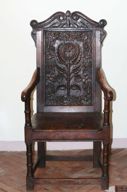 I'm going with 17th century on this one. That's my guess. Antique ItemsAntique  WoodAntique ChairsAntique ... - 9 Best Tufted Wingback Leather Chair Images On Pinterest Auction