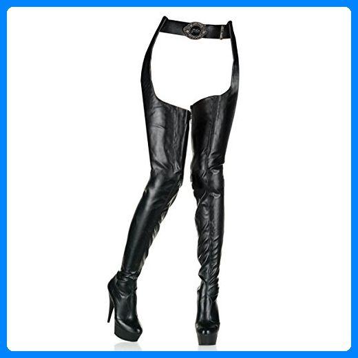Pleaser Delight-5000 - Sexy Plateau High Heels Overknee Stiefel 36-45, Größe:EU-36 / US-6 / UK-3 - Stiefel für frauen (*Partner-Link)