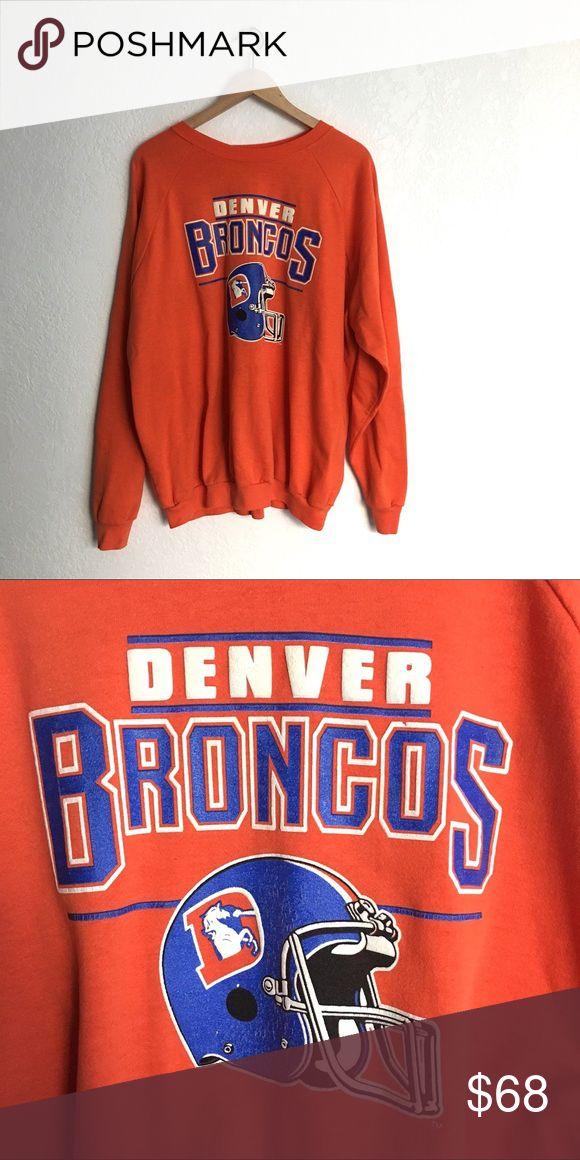 "Vintage Denver Broncos Sweatshirt Great shape. Go Broncos!! Tag size XXL. Best for S-L depending on style. 26"" armpit to armpit, 28""length from shoulder. Vintage Tops Sweatshirts & Hoodies"