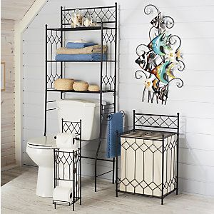 17 best images about wrought iron on pinterest planters wrought iron wall art and quilt racks for Wrought iron bathroom furniture