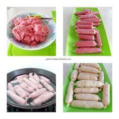 tavuk sosisi tarifim çok lezzetli oluyor.mutlaka tavsiyemdir..    malzemeler:  1/2 kğ tavuk göğüs eti  1 küçük boy kuru soğan  1 tür...