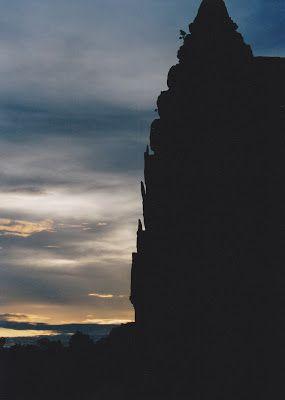The light at sunrise, from the top of Angkor Wat -  Angkor Wat At Dawn http://jouljet.blogspot.com/2012/09/angkor-wat-at-dawn.html #Cambodia #travel