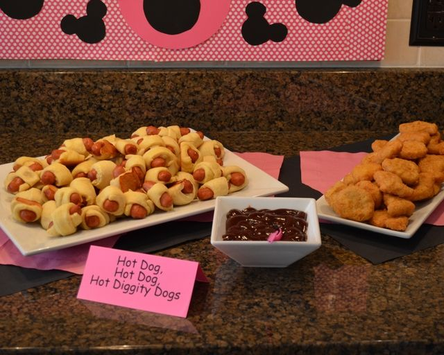 Mickey Mouse Birthday Food
