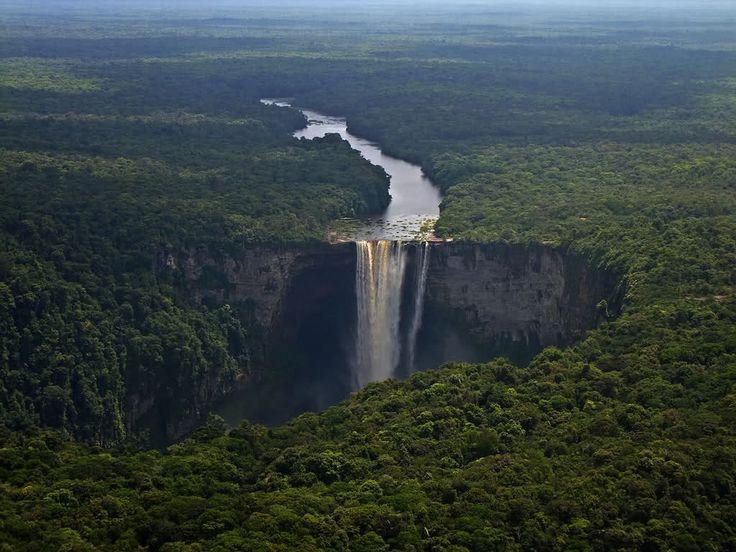 Водопад Кайетур, Гайана, Южная Америка - HD-фото, редкие фото, красивые обои на рабочий стол