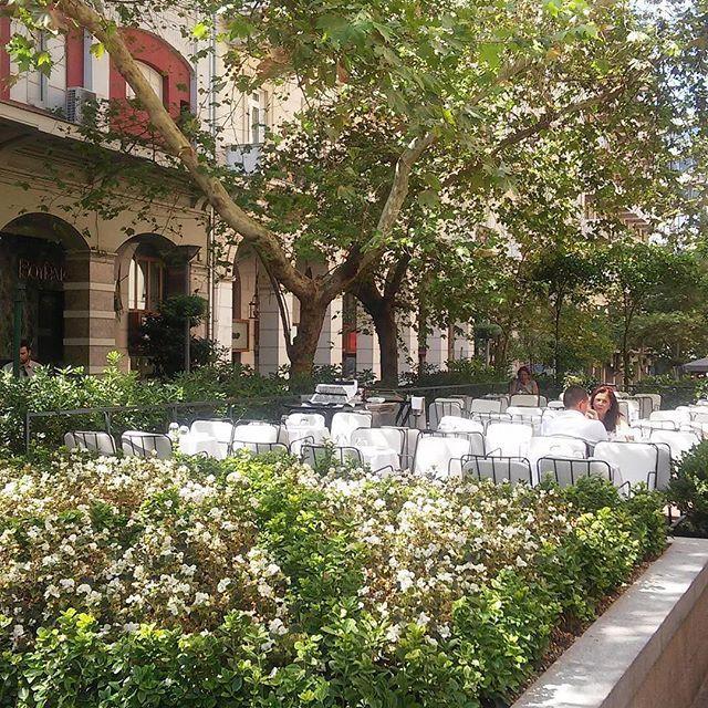 What's better for a Saturday morning than a coffee break after the shopping in #Kolonaki neighbourhood?⠀  ⠀  #visitAthens #citybreak #AthensGoodLife #zonars #voukourestiou #kolonaki ⠀  ⠀  Photo: @christina.ros.martini