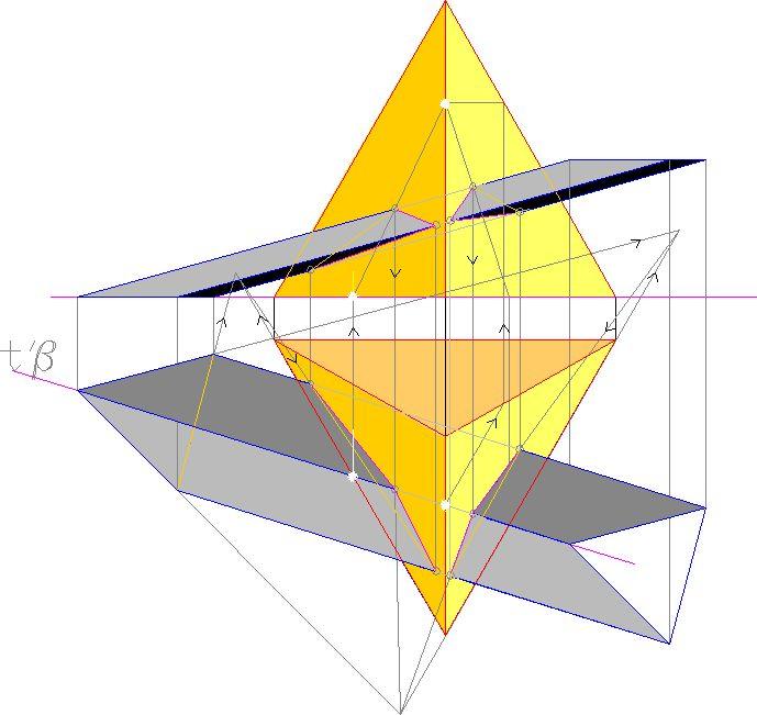 intersezione tra prisma e piramide
