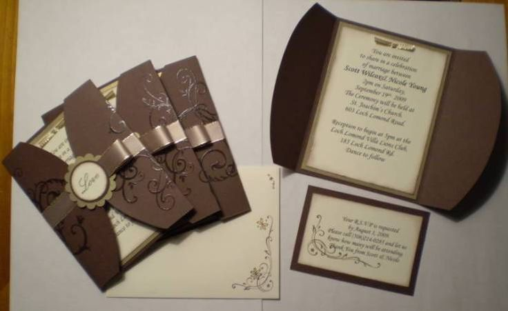Wedding Invition Sample - Stampin' Connection                                                                                                                                                                                 More