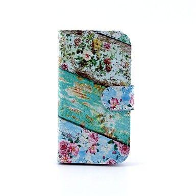 kleuraanpassing achtergrond bloemen patroon pu lederen full body case voor Samsung i9300 s3 – EUR € 8.90