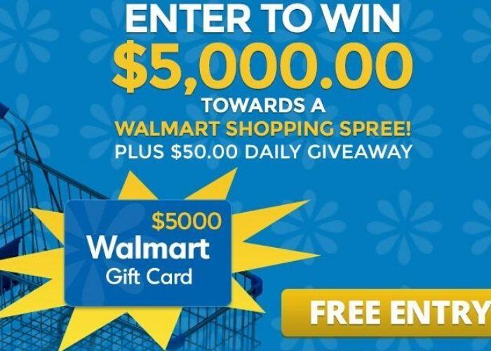 Get a $5000 Walmart Shopping Spree! in 2020 | Walmart card, Walmart gift  cards, Walmart shopping