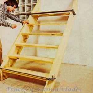 Escalera exterior de madera 8