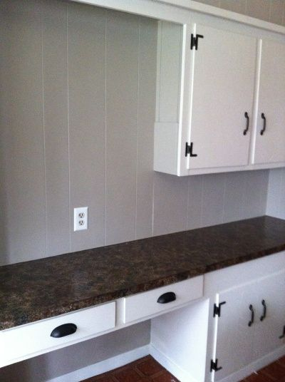 Painted paneling behr perfect taupe color kitchen ideas pinterest behr taupe and built ins - Behr kitchen paint ...