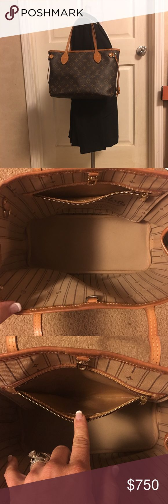Louis Vuitton Neverfull PM Neverfull Beautiful Neverfull PM  This bag of stunning handles are beautiful all the vachetta is in awesome condition. No cracks in the canvas. No bad odors ,Inside lining clean ,No peel in the pocket. She's ready for the holiday season! Louis Vuitton Bags Shoulder Bags