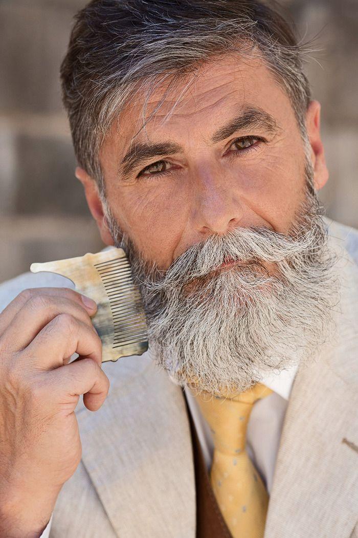 60-Year-Old Man Becomes A Fashion Model After Growing A Beard (10+ Pics) | Bored Panda