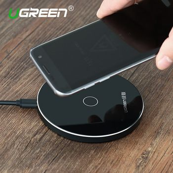 Ugreen 10W Qi Wireless Charger for iPhone 8/X Fast Wireless Charging for Samsung S8/S8+/S7 Edge Nexus5 Lumia 820 USB Charger Pad  Price: 22.10 USD