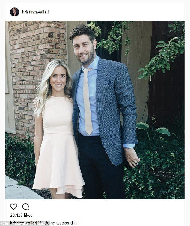 Looking happy! Kristin Cavallari attended a wedding with husband Jay Cutler on Saturday...