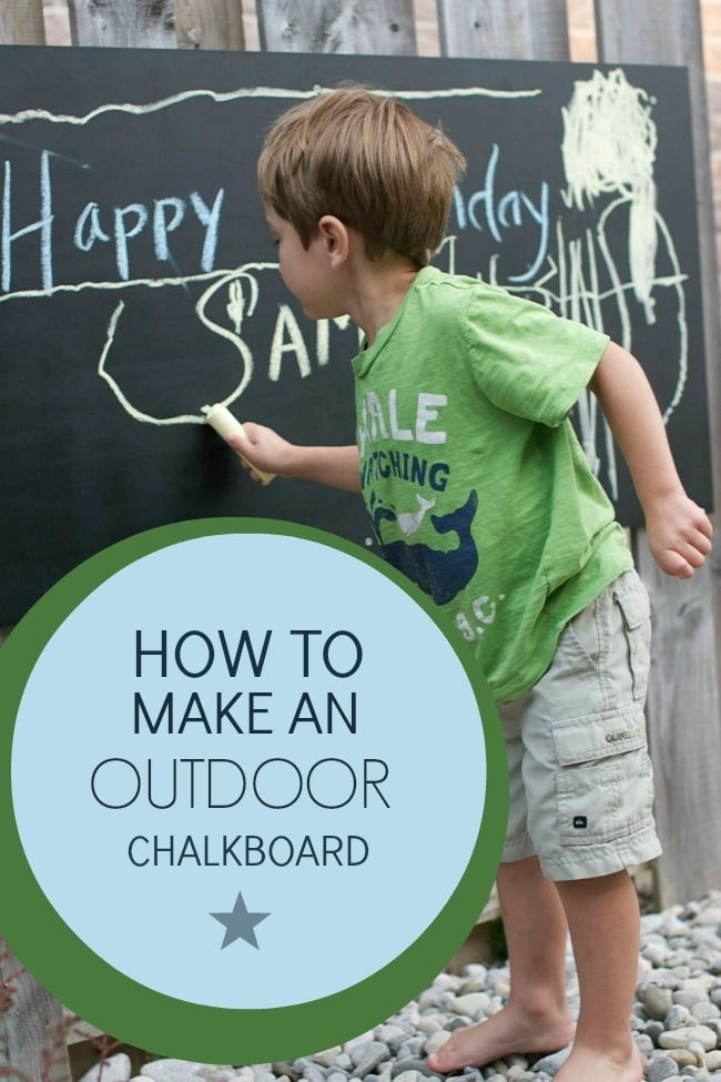 Your backyard will be kid-friendly and ready to #FireUpSummer in no time with this easy outdoor chalkboard by @spaceshipslb.