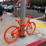 Orange Bicycles Scattered Throughout San Diego