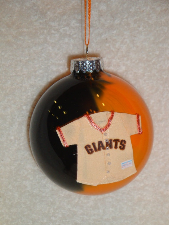 MLB SF Giants Glass Ornament by jacqdosch on Etsy, $6.00